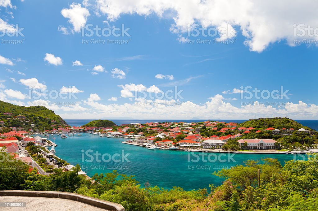 Gustavia Harbor in St. Barths, French West Indies royalty-free stock photo