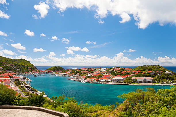Gustavia Harbor in St. Barths, French West Indies – Foto