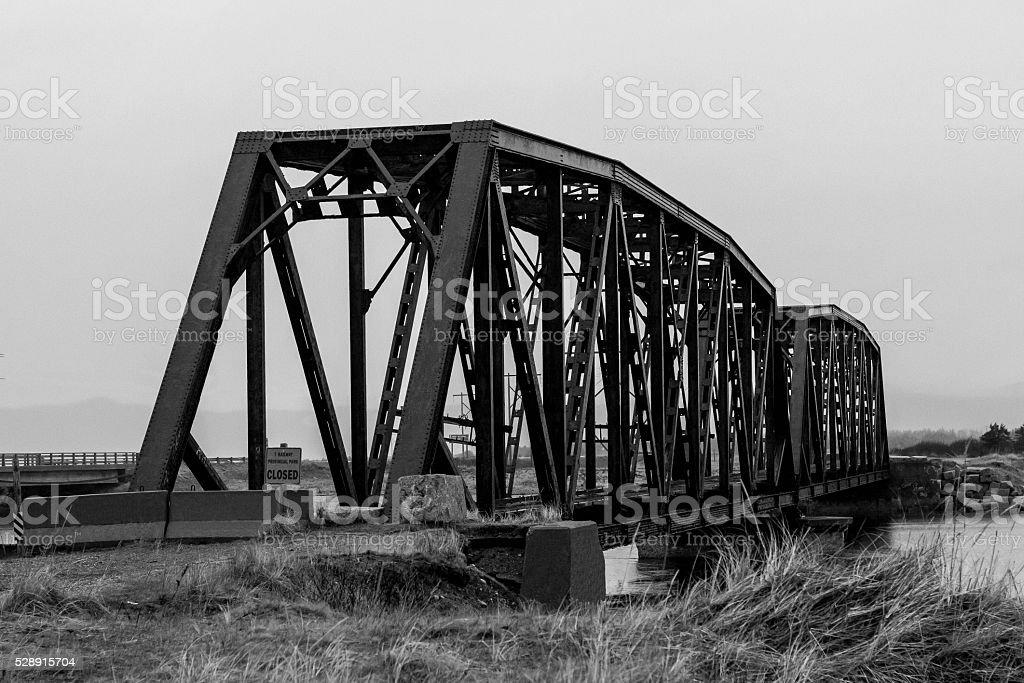 Gut Bridge Stephenville Crossing, Newfoundland stock photo