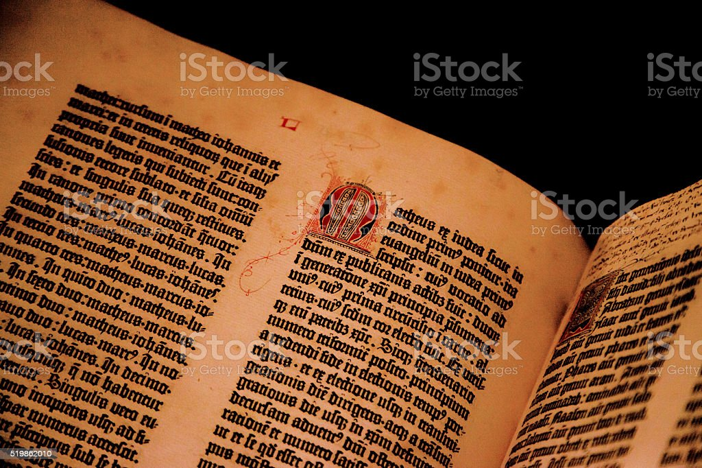 Gutenberg Bible stock photo