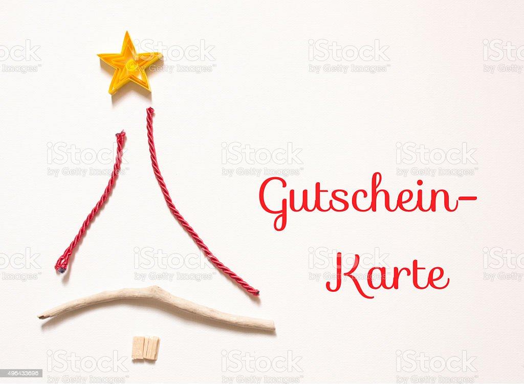 Gutschein-Karte - voucher in german
