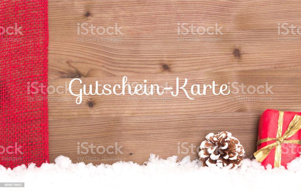 Gutscheinkarte - voucher in german