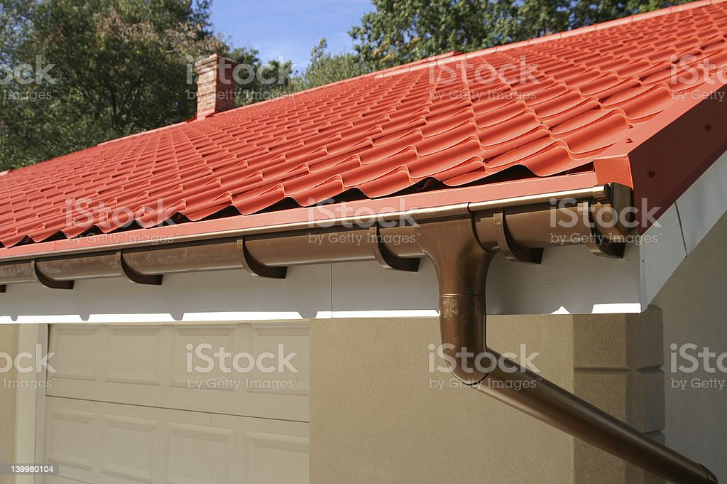 gutter system royalty-free stock photo