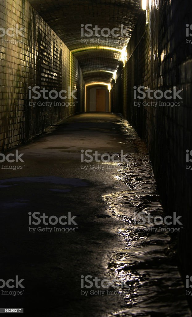 Gutter Tunnel royalty-free stock photo