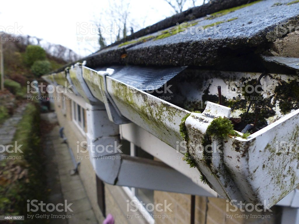guttering stock photo