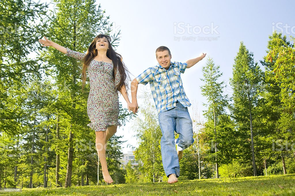 guy and  girl royalty-free stock photo