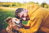 Serbia, Dog, Men, People, Playful