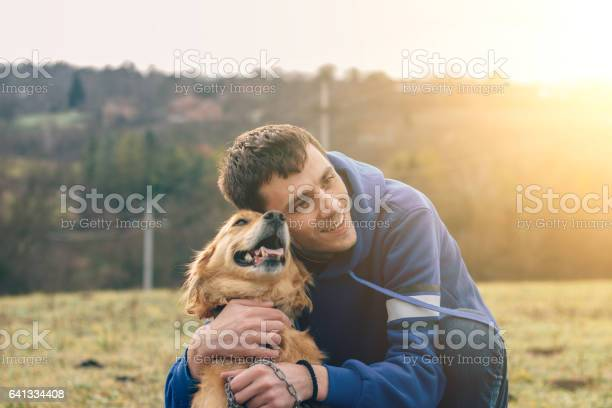 Guy and his dog golden retriever nature picture id641334408?b=1&k=6&m=641334408&s=612x612&h=bvadwih729zobaxgn8eeuxrlemitlbeej45ryoeaoxm=