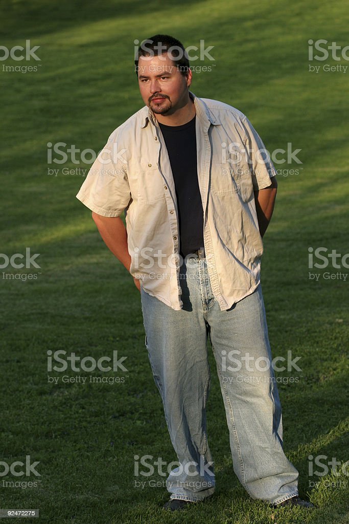 Guy in Grass royalty-free stock photo