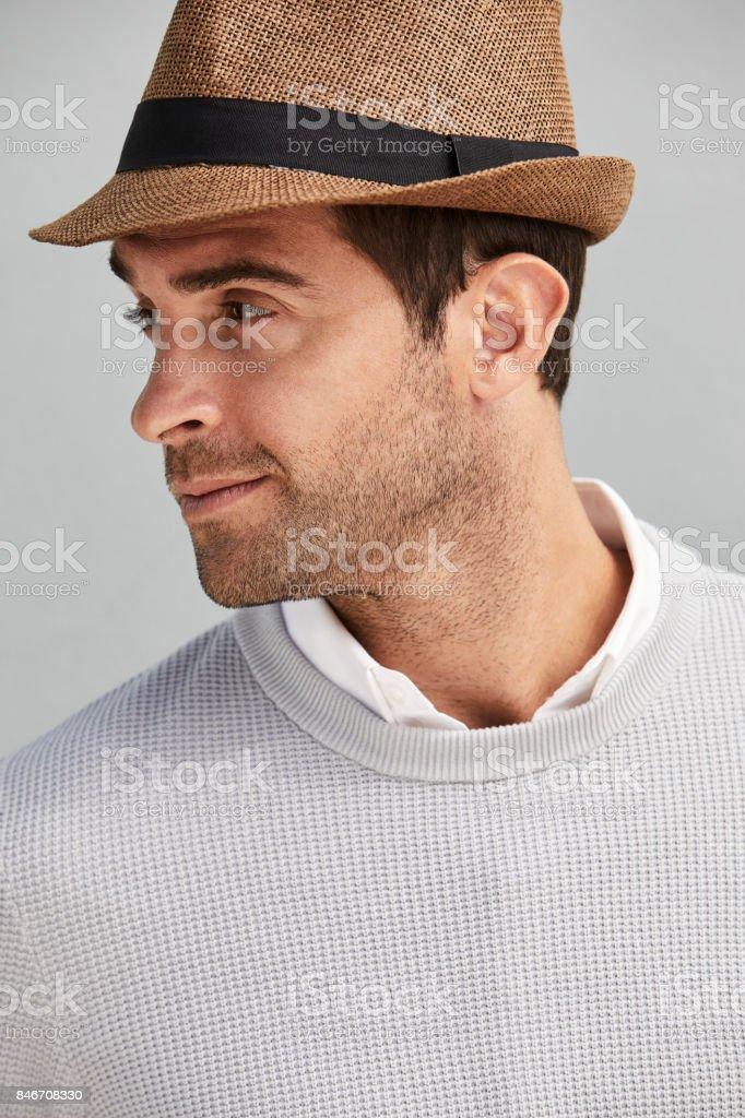 Guy In Hat Looking Away Stock Photo Download Image Now Istock