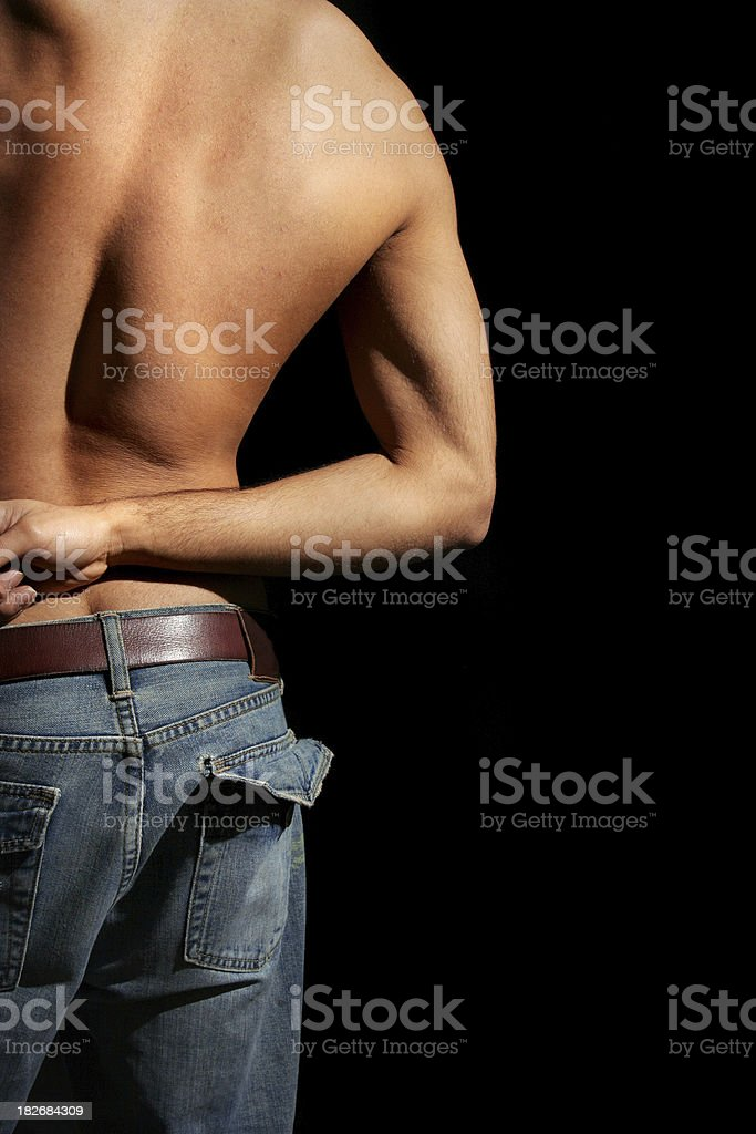 Guy in jeans I stock photo