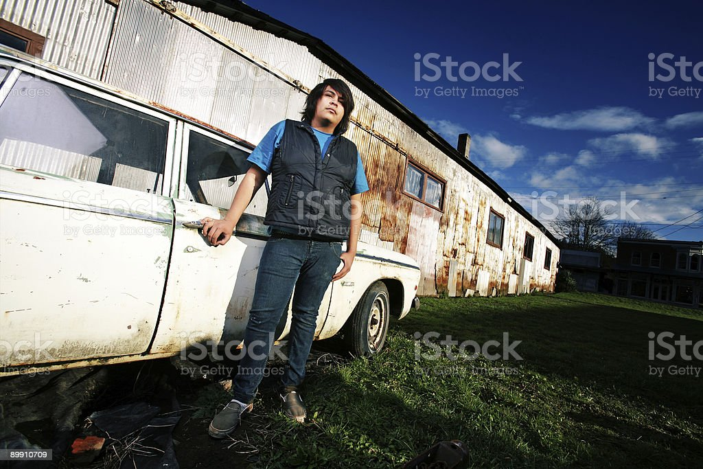 Guy in Urban Scenary royalty-free stock photo