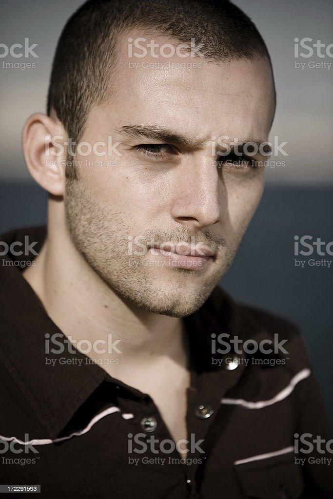 Guy looking at camera royalty-free stock photo