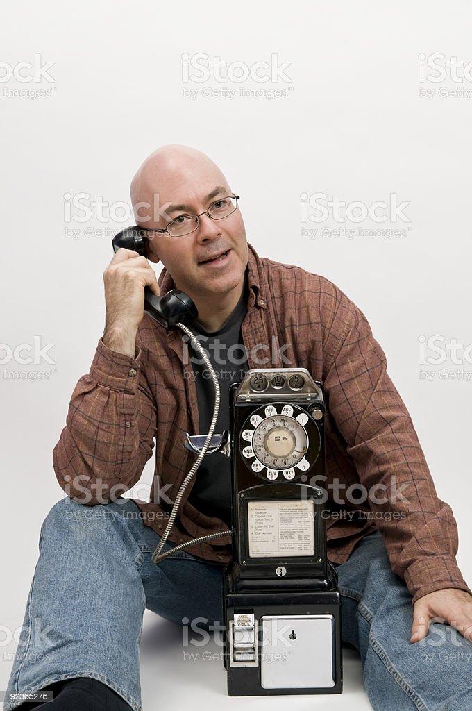 guy on phone royalty-free stock photo