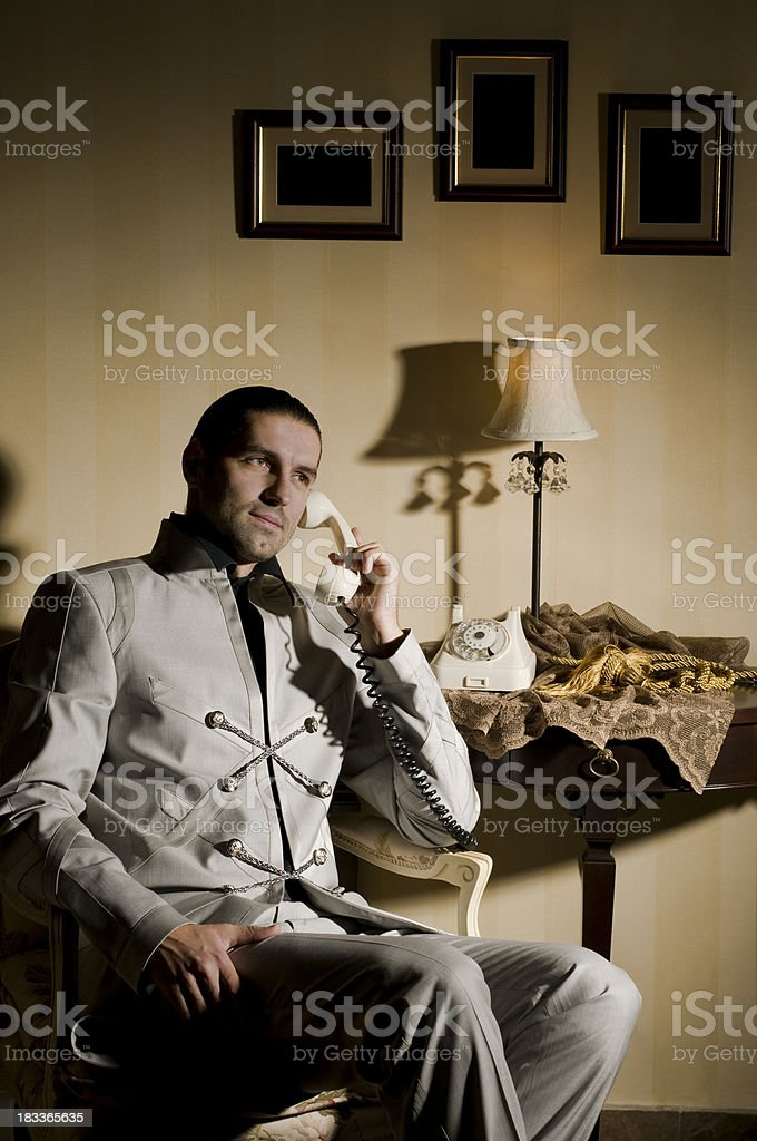 Guy On The Phone stock photo