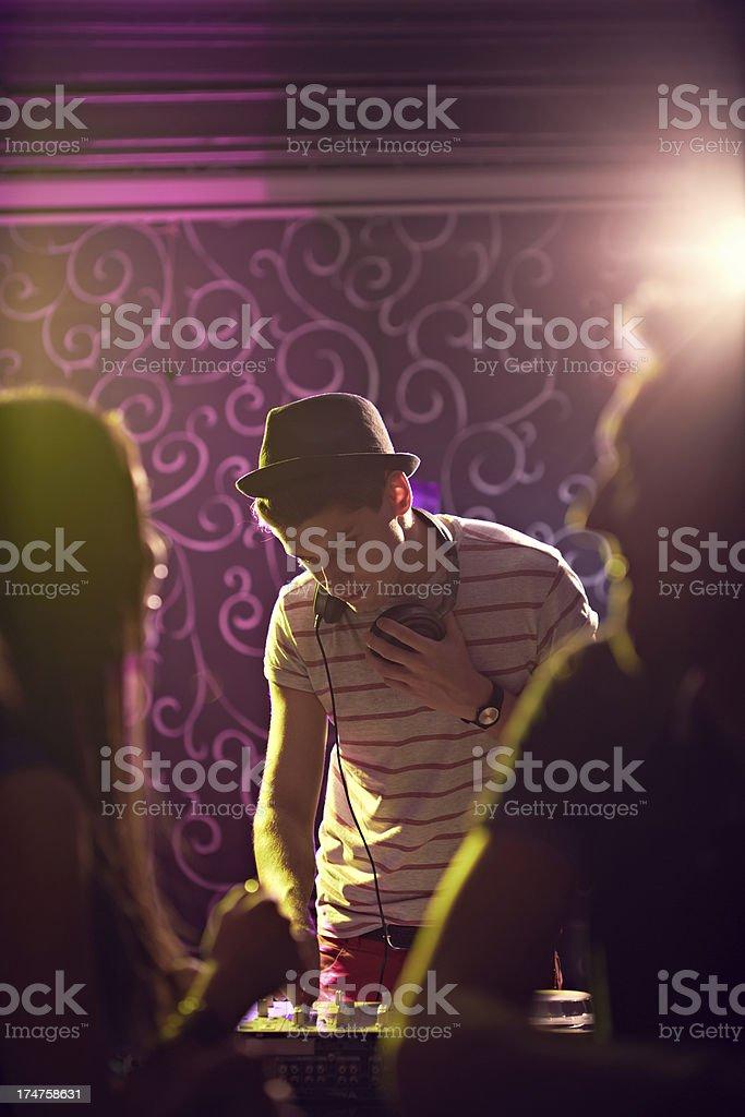 DJ guy royalty-free stock photo