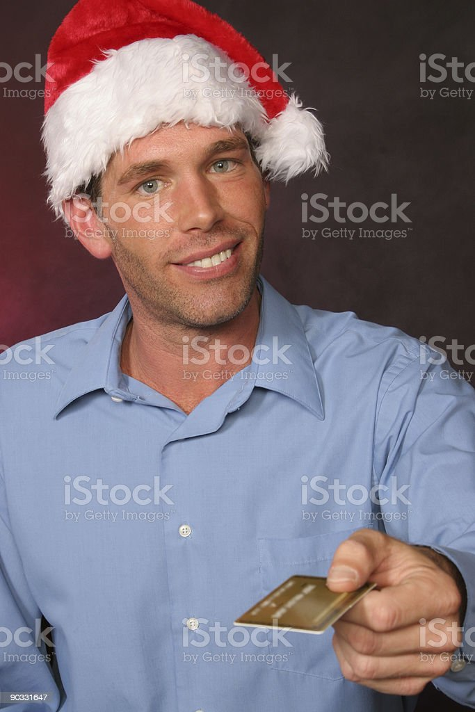 guy pulls out credit card royalty-free stock photo