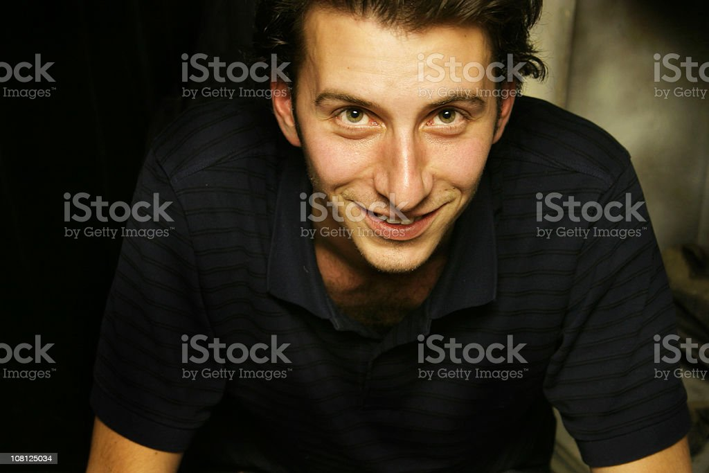 Guy smiling royalty-free stock photo