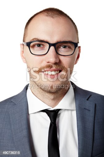 951331990 istock photo Guy with a mustache 490736315