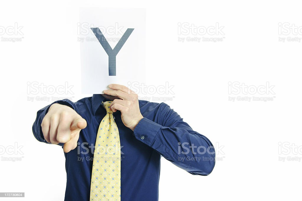 Guy with a symbol series royalty-free stock photo