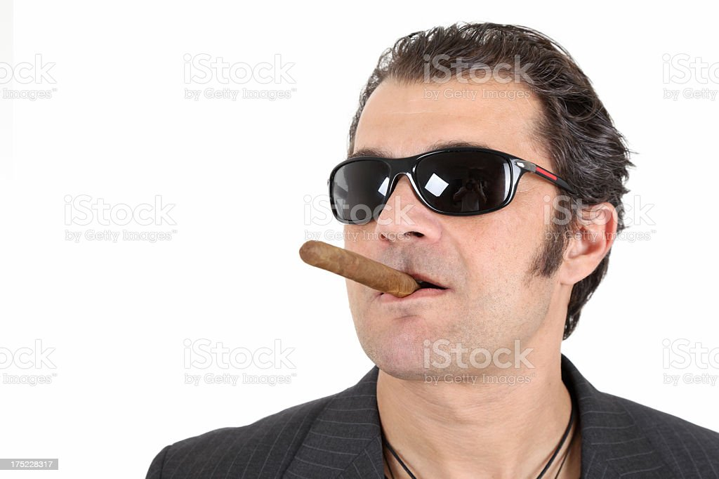 Guy with cigar royalty-free stock photo