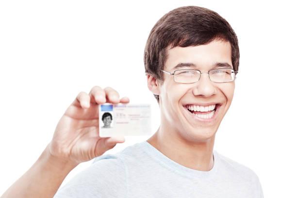 Guy mit Führerschein – Foto