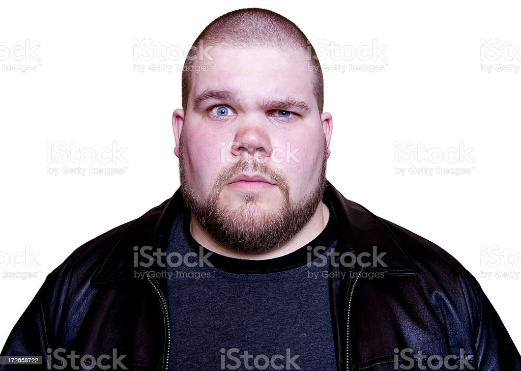 Guy with quizzical look stock photo