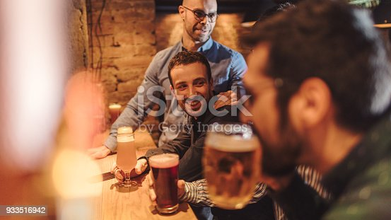 istock Guys in night out 933516942