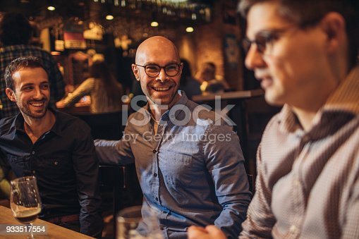 istock Guys in night out 933517554
