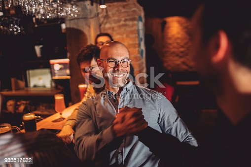 istock Guys in night out 933517622