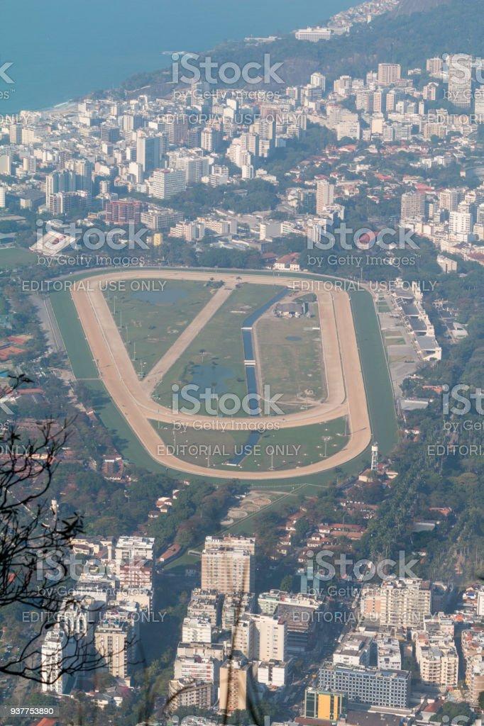 Hipódromo da Gávea in Rio de Janeiro, Brazil stock photo