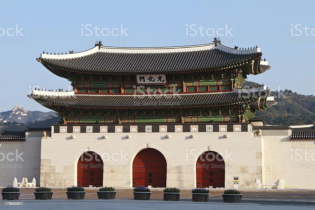 Gwanghwamun Gate stock photo
