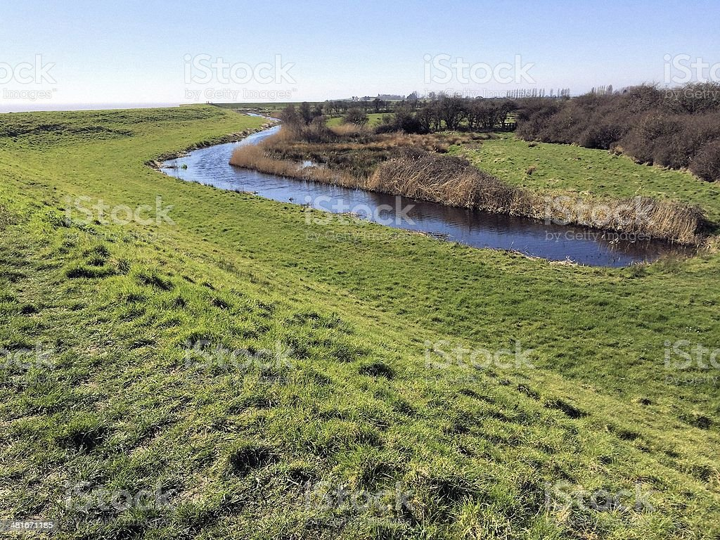 Gwent Levels reen stock photo