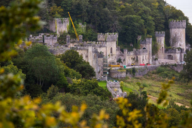 Gwrych Castle in North Wales, UK stock photo