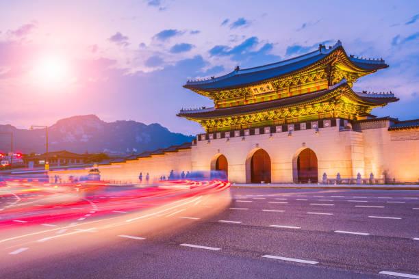 Palacio de Gyeongbok en Seúl, Corea del sur - foto de stock