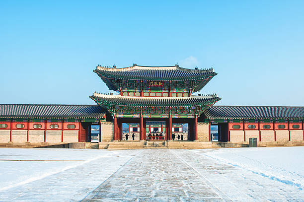 Gyeongbokgung Palace in seoul stock photo