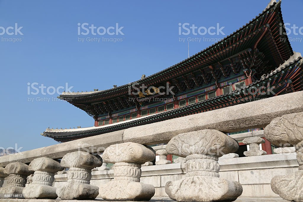 Gyeongbokgung Palace in Seoul royalty-free stock photo