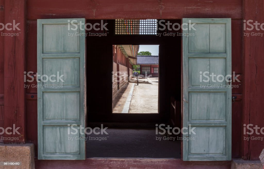 경복궁, 한국 궁궐, 사찰, 한옥 스톡 사진