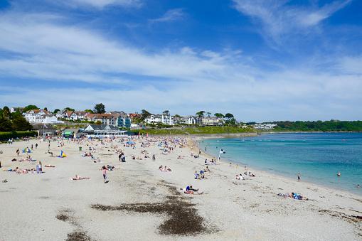 Gyllyngvase Beach, Falmouth, Cornwall, UK