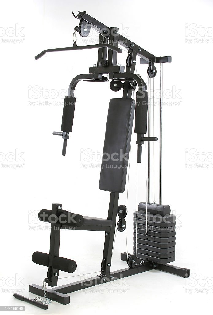 Gym and muscle machine stock photo