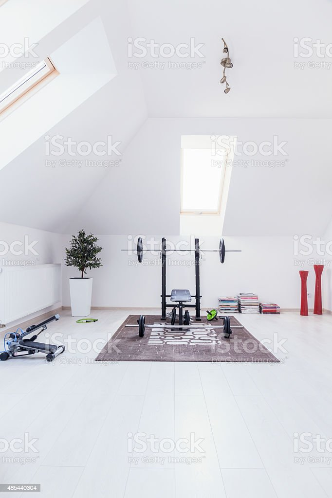 Gym at home stock photo
