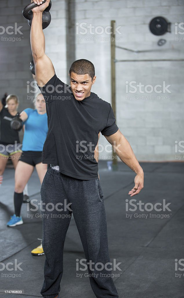 gym athletes. royalty-free stock photo