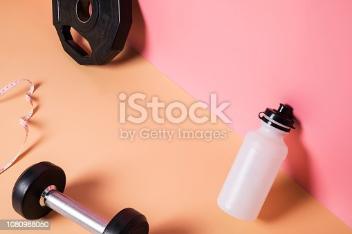 istock Gym background with equipment cross sport fit health 1080988050