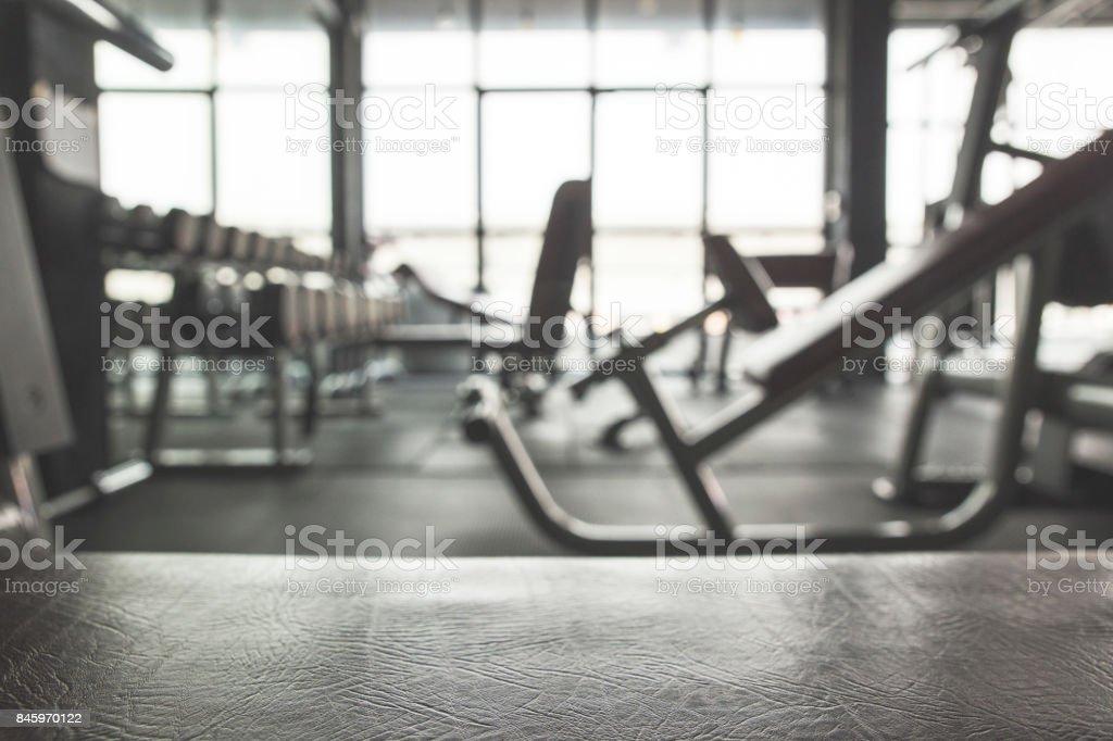 Fundo do ginásio com equipamento - Foto de stock de Academia de ginástica royalty-free
