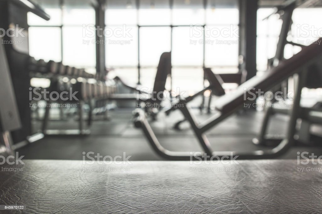 Gym background with Equipment stock photo