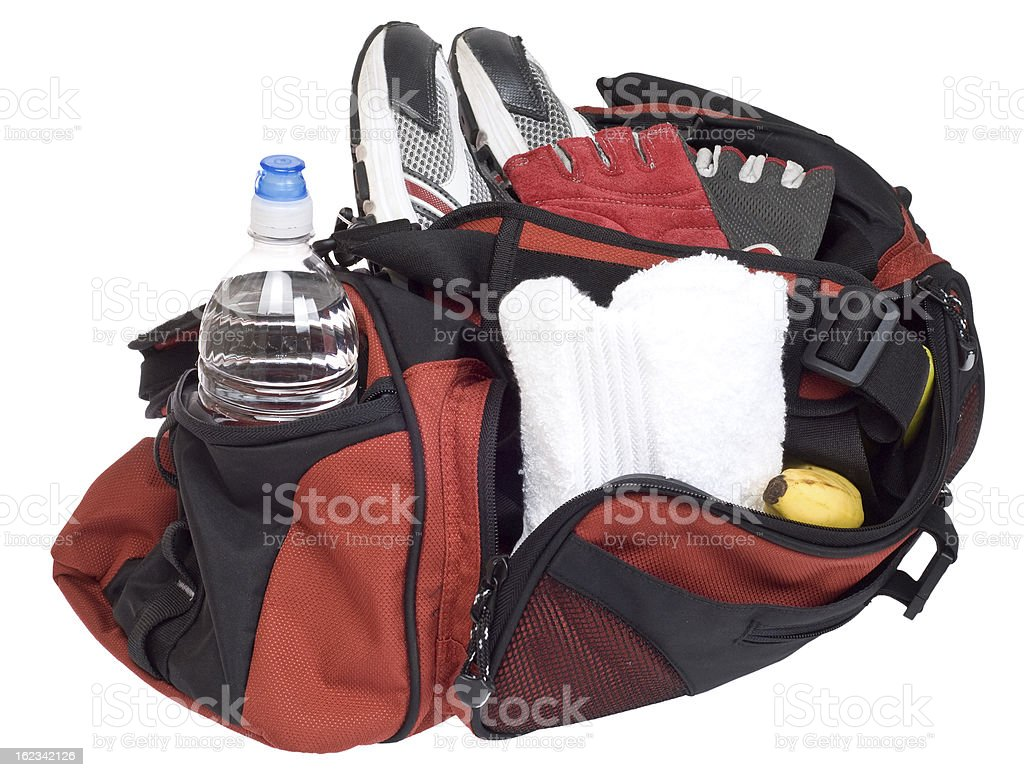 Gym Bag with Clipping Path royalty-free stock photo