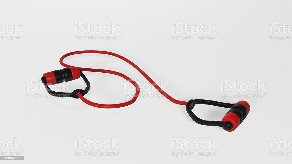 Gym band, elastic sport equipment isolated on white background stock photo