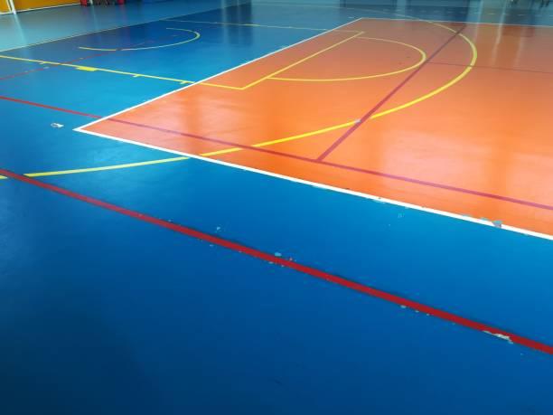 Gym basketball court - foto stock