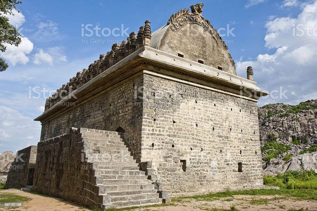 Gym Building at Gingee Fort royalty-free stock photo