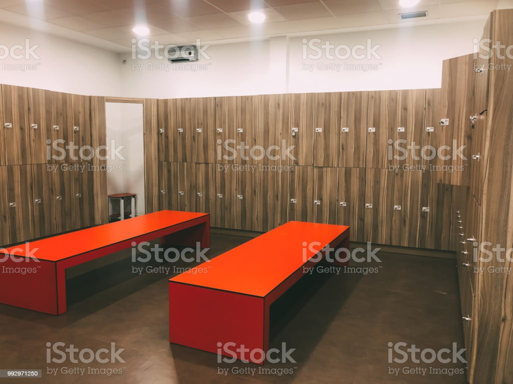 Gym changing room lockers stock photo & more pictures of bank